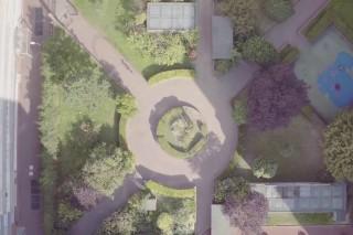 vue aérienne de la ville de Clichy en région Parisienne