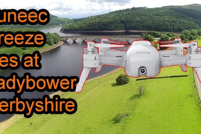 Yuneec Breeze 4k Quadcopter flight. Ladybower Upper Derwent Valley in Derbyshire