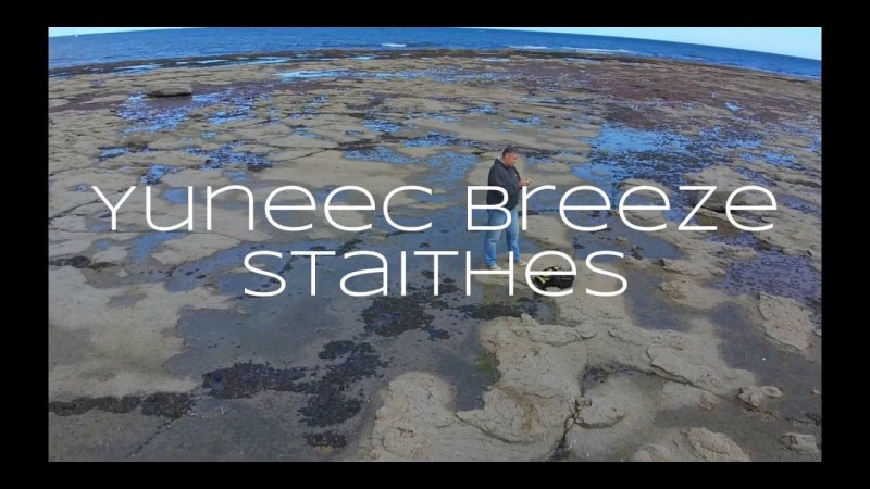 Yuneec Breeze 4K Quadcopter Flights. Staithes North Yorkshire