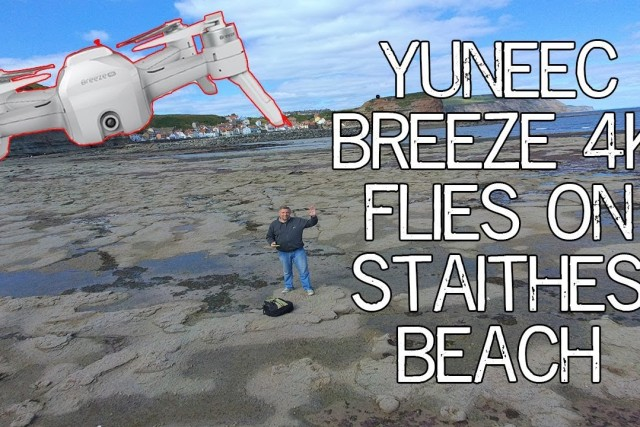 Yuneec Breeze 4k Quadcopter Flight. Staithes North Yorkshire