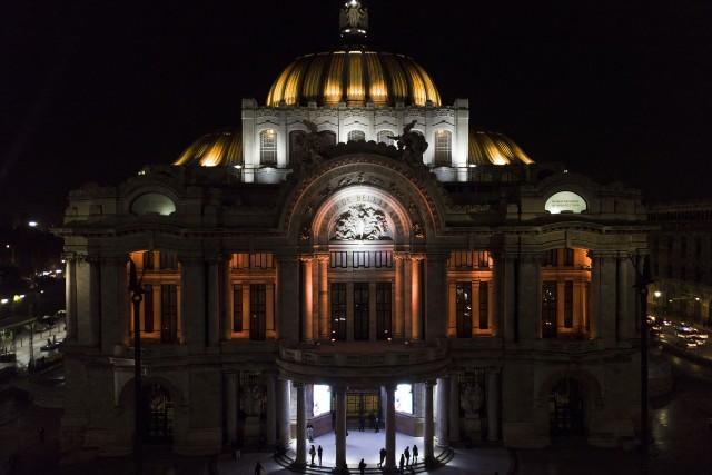 Bellas Artes at night