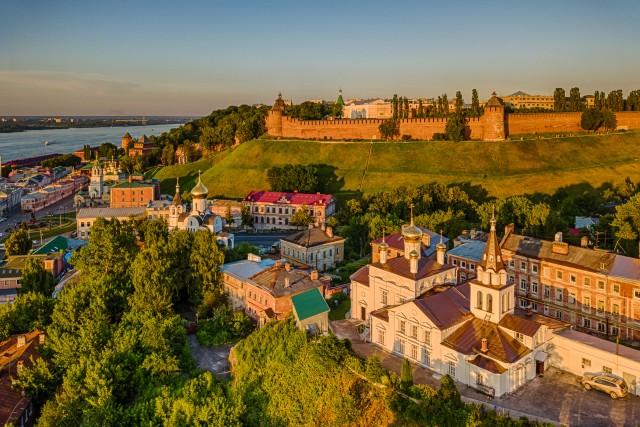 Nizhny Novgorod kremlin from the air