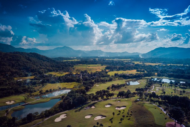 Golf Course Aerial – Chiang Mai – Thailand Countryside