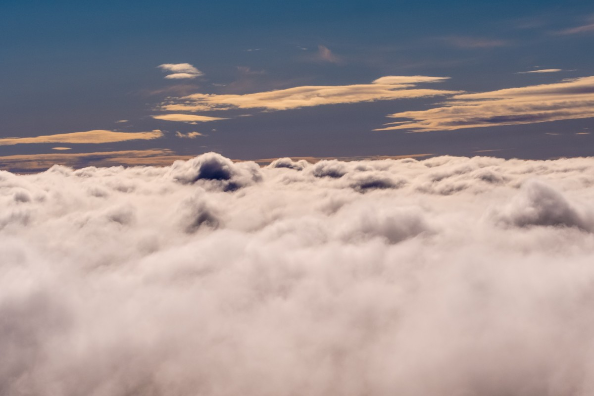 Above the clouds of Iceland