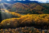Vikos Gorge in the autumn day in the Epirus Zagorohoria, Greece