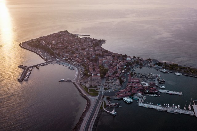 Old Town of Nessebar on Sunrise