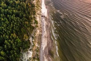 The Baltic sea coastline