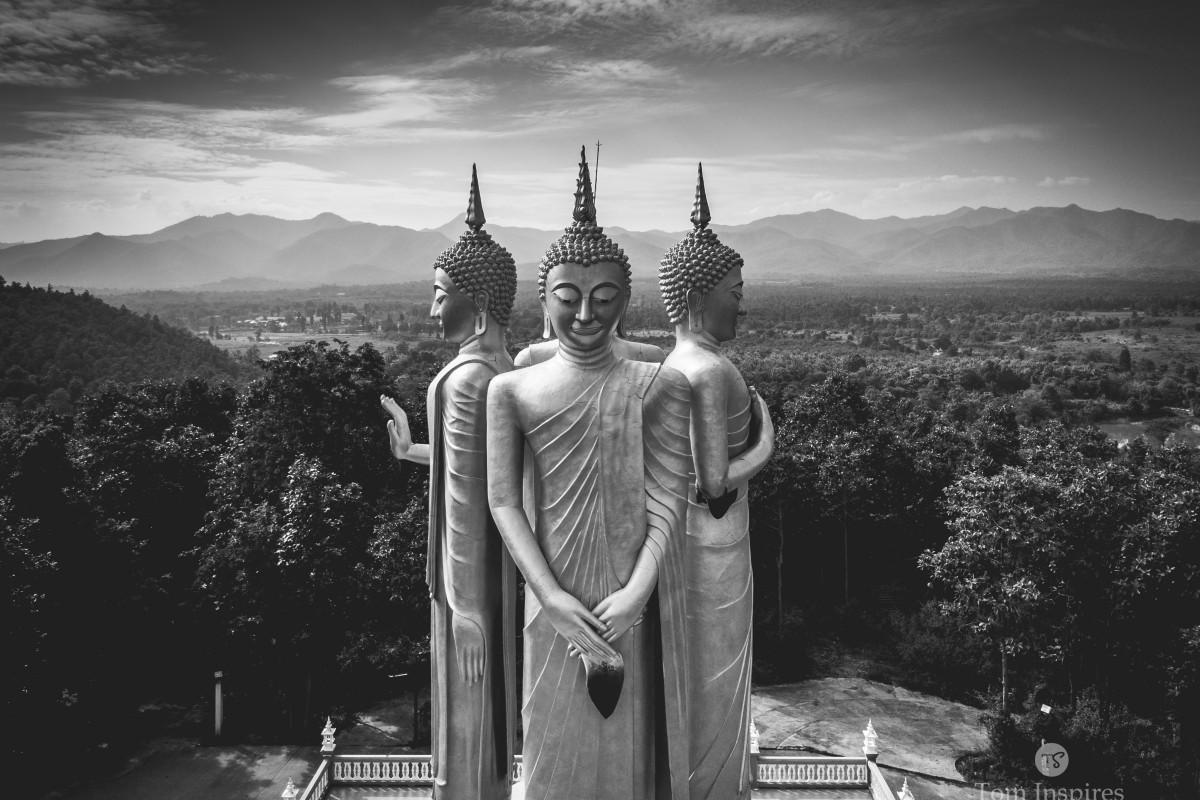 Buddha Statue – Northern Thailand – B & W