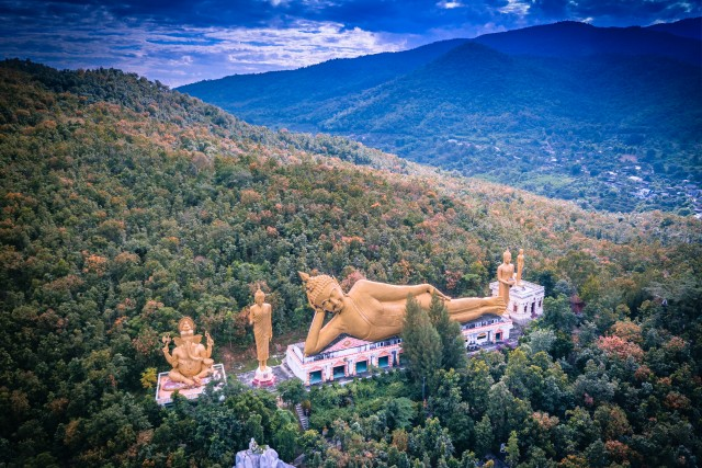 Take A Break – Aerial Buddha – Chiang Mai