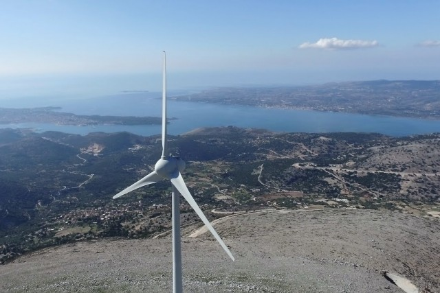 Eumorfia mountain – Wind turbines,  Kefalonia , Greece