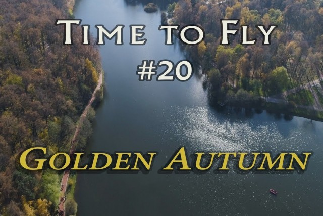Golden Autumn in Moscow 4K. Aerial video from drone DJI Phantom 4 Pro