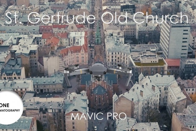 Neo-Gothic church cinematic aerial view | Mavic Pro