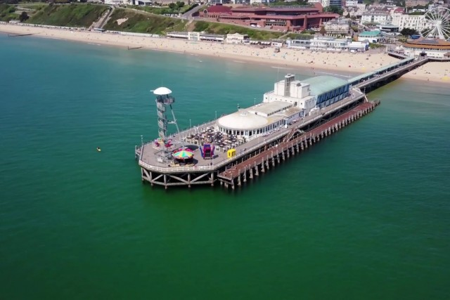 Summer at Bournemouth Beach 4K