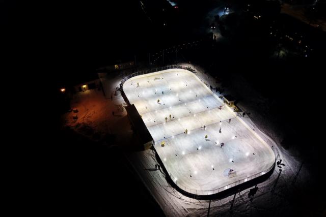 Nighttime hockey