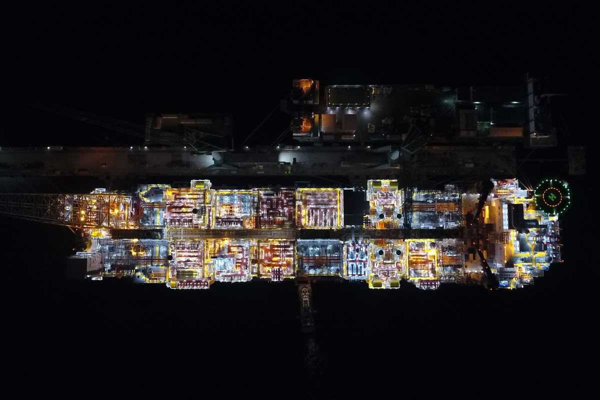 FPSO Egina by night