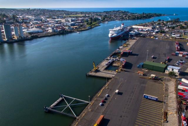The Port of Devonport, Tasmania (Australia)