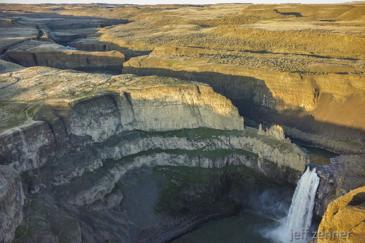 Setting Sunlight Over Palouse Falls!
