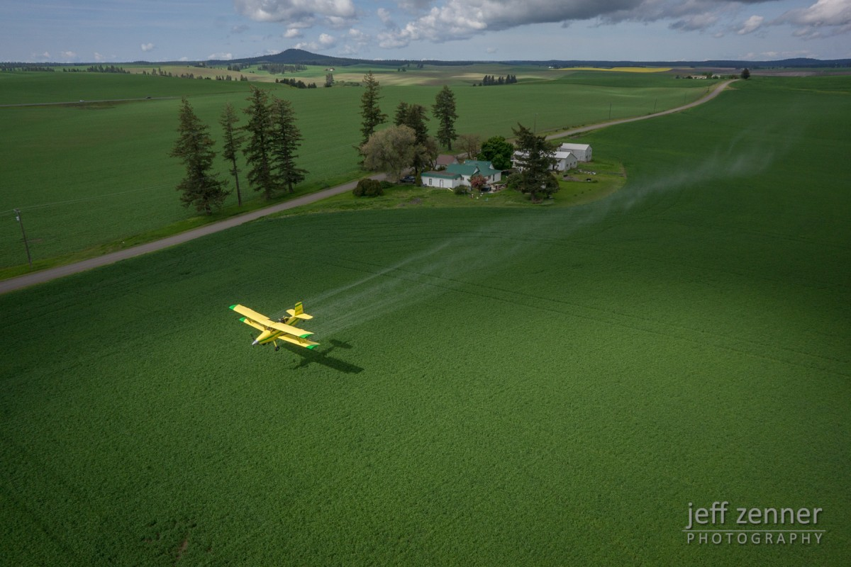 Spraying the Fields!