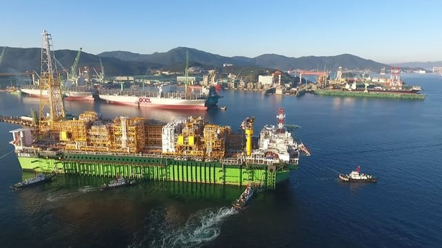 FPSO Egina, sail away, Goeje, South Korea