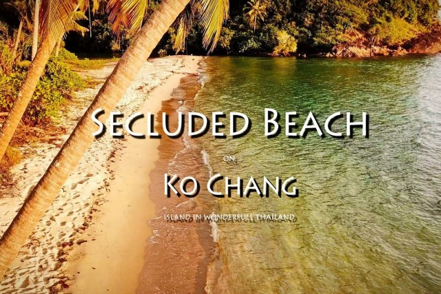 Island Ko Chang secluded desert Beach in thailand