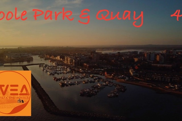 Sunset at Poole Park and Quay 4K