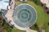 Aerial view of a fountain, at Daytona Beach, Florida.