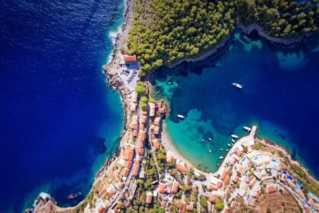 Assos Village in Cephalonia Island, Greece
