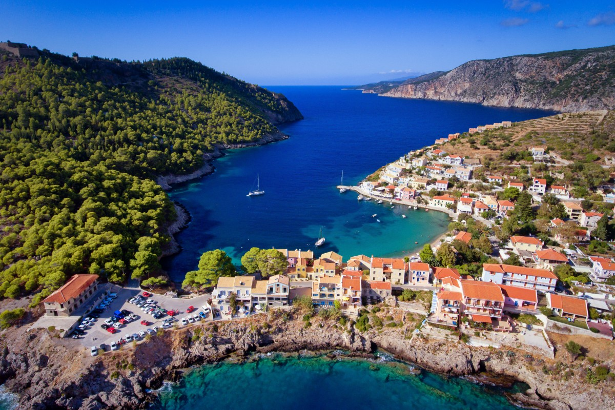 Assos Village in Cephalonia, Greece