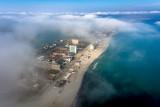 Foggy morning over Mamaia, Constanta, Romania