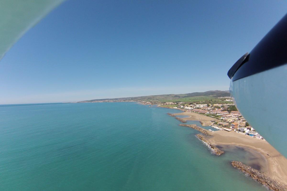 Gliding over sea – Italy, Santa Severa