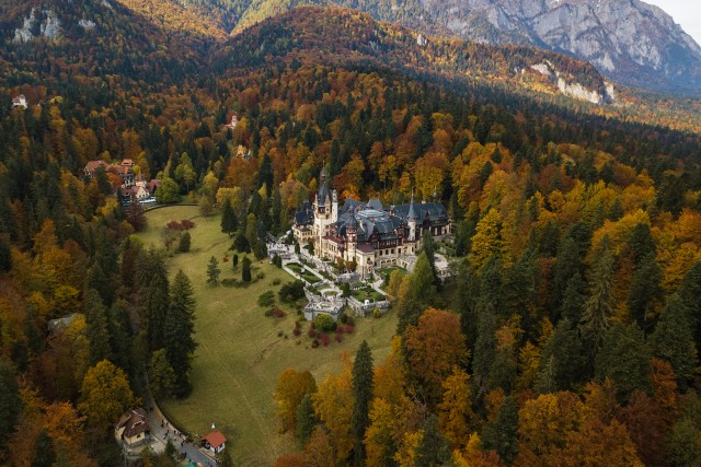 Peles Castle in the Autumn
