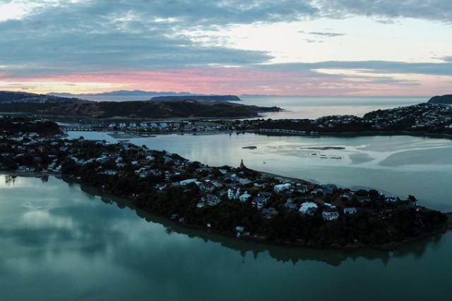 Sunset over Pauatahanui inlet