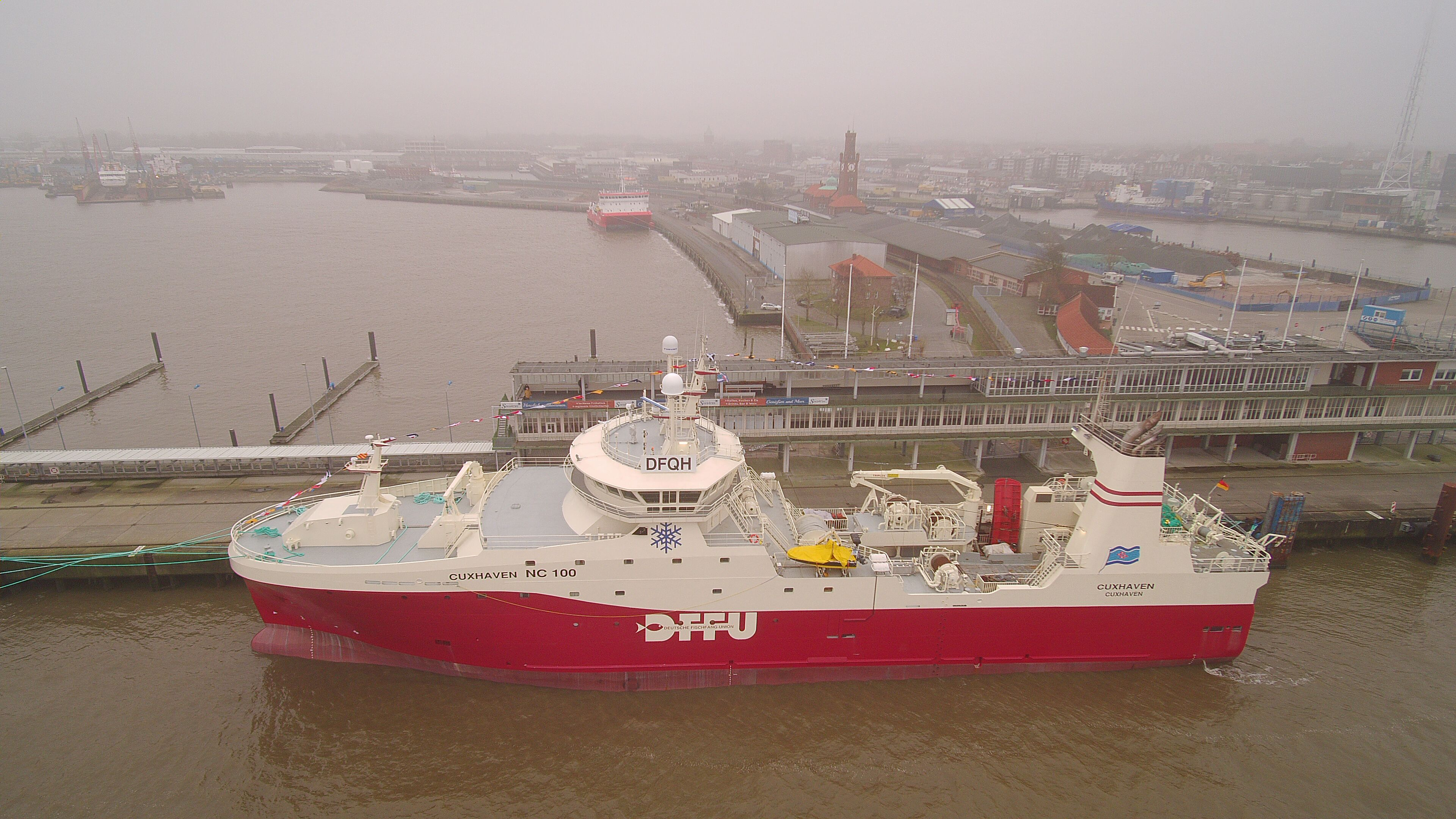 "DFFU brand new fishing vessel ""Cuxhaven"" in Cuxhaven just before its first commercial sail out"