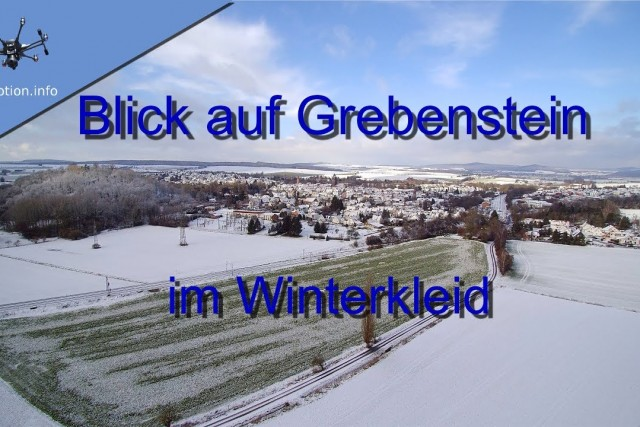 Grebenstein Germany Winterimpession with strong winds and snow
