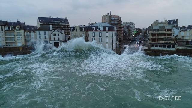 La tempête Eleanor filmée en drone à Saint-Malo – Easy Ride opérateur drone en Bretagne