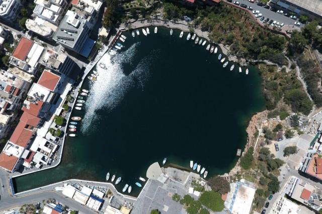 Vouliagmeni lake Agios Nikolaos Crete,Greece.