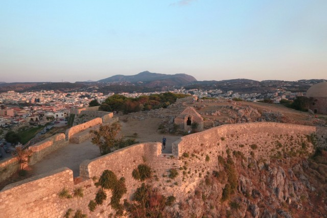 Forteza fortress Rethimno Crete, Greece.