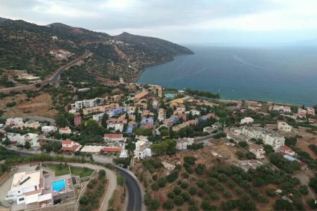 View from Katsikia village Agios Nikolaos Crete,Greece