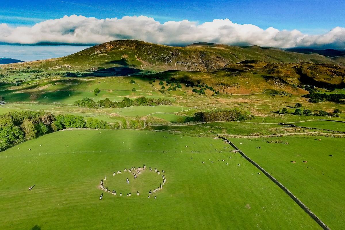 Castle Rigg Stone Circle, Lake District, Cumbria, United Kingdom