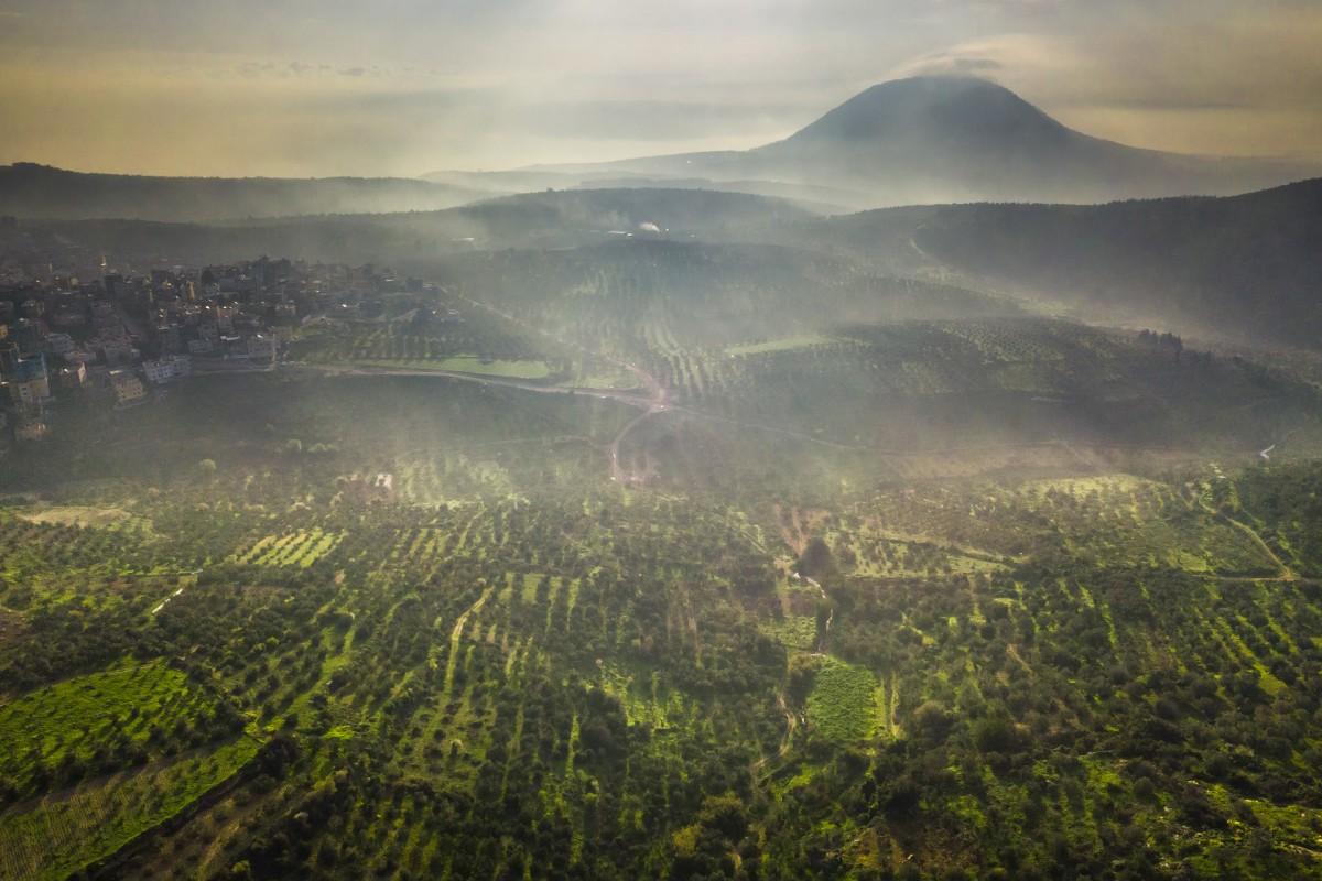Morning mist under Mt. Tavor