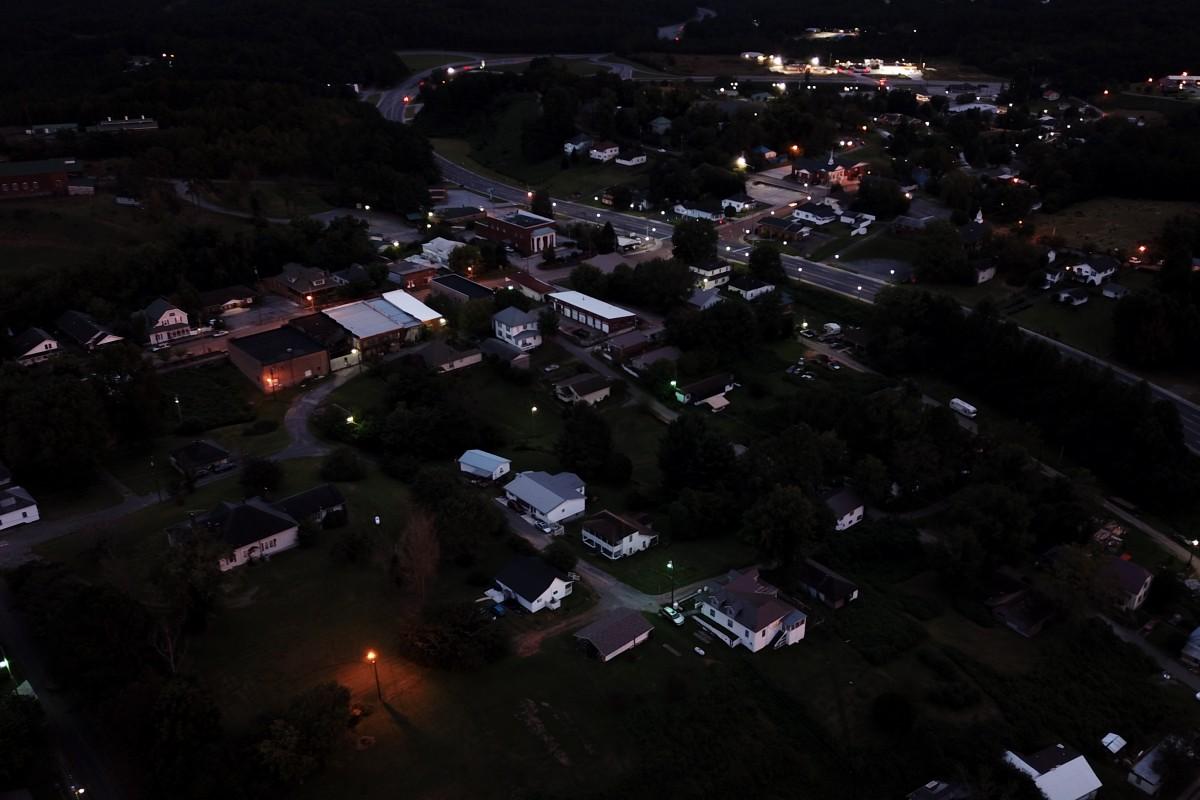 Ducktown TN. at night