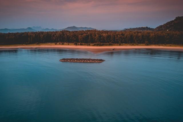 Aerial Ocean View Hua Hin Thailand