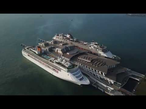 Flight Over Costa Victoria and Celebrity Millennium