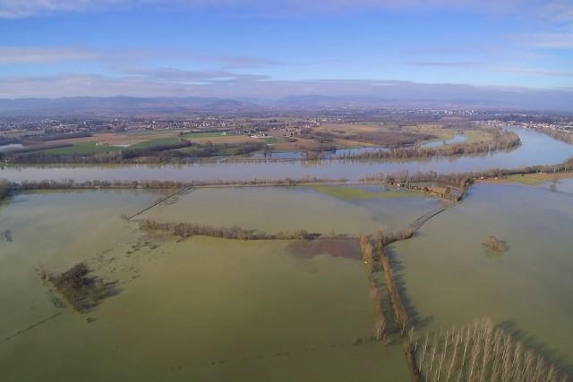 Flood in France  – Montmerle sur Saône