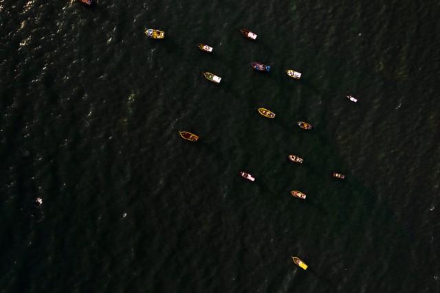 Boats in Rio do Fogo, Brazil
