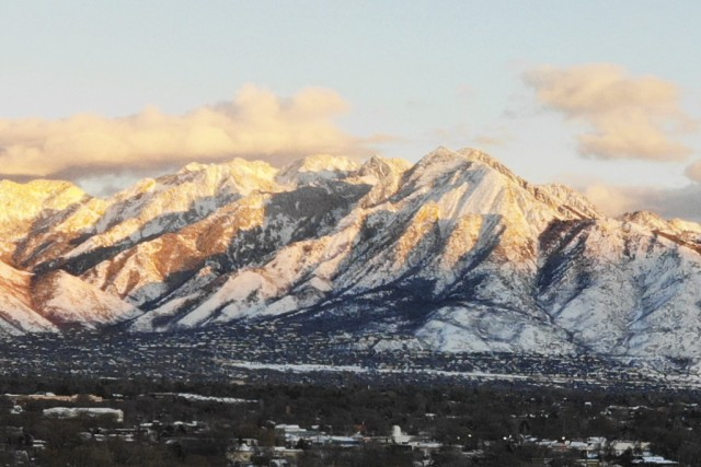 Wasatch Mountains at Sunset