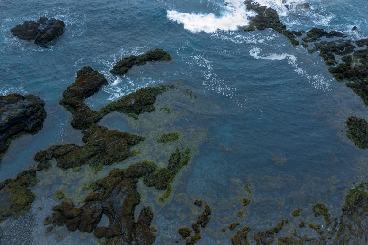 Iceland Waves Crashing on Southern Lava Shore