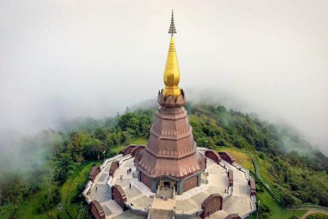 Flight in the clouds of Northern Thailand