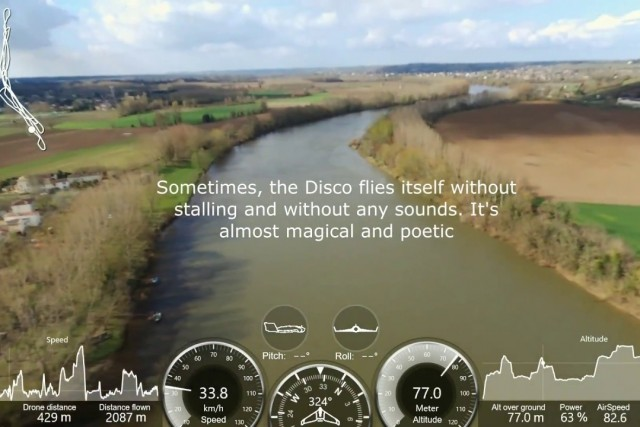 Parrot Disco – Barsac with a little rain (and a new speed record)