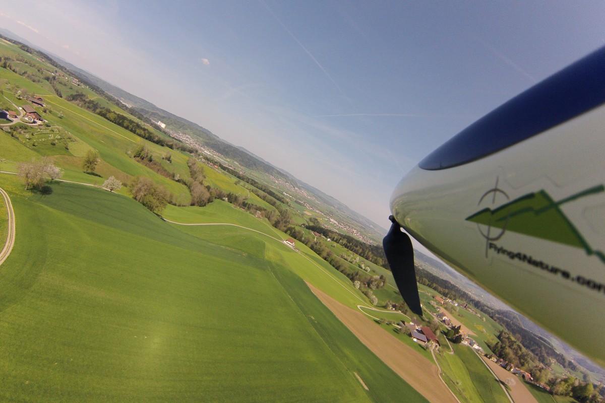 Spring flight in Switzerland